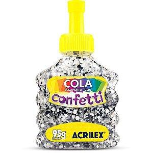 Cola Com Glitter Confetti Espacial 95G. Acrilex