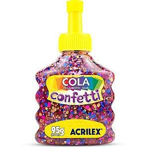 Cola Com Glitter Confetti Fantasia 95G. Acrilex