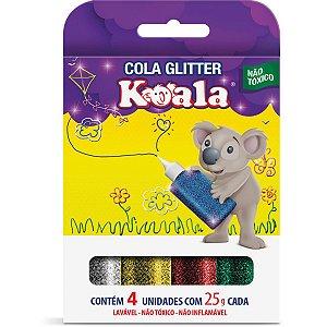 Cola Com Glitter Koala 4 Cores Delta