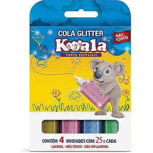 Cola Com Glitter Koala 4 Cores Neon 25G Delta