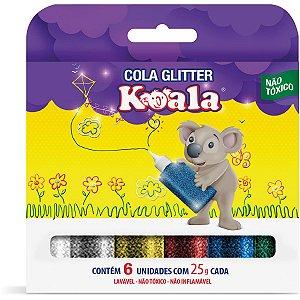Cola Com Glitter Koala 6 Cores Delta