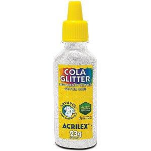 Cola Com Glitter Tubo 23G. Cristal Acrilex
