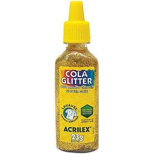 Cola Com Glitter Tubo 23G. Ouro Acrilex