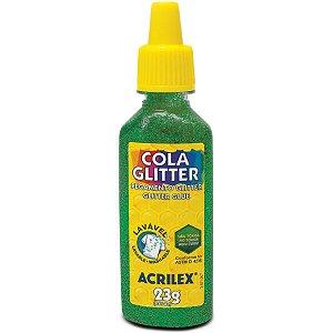 Cola Com Glitter Tubo 23G. Verde Acrilex