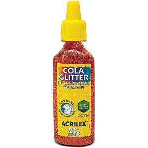 Cola Com Glitter Tubo 23G. Vermelha Acrilex