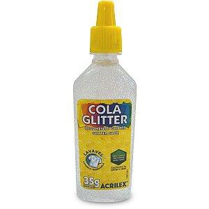 Cola Com Glitter Tubo 35G. Cristal Acrilex