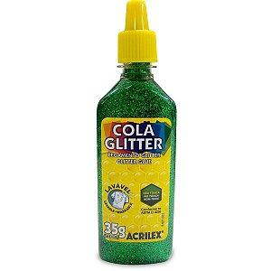 Cola Com Glitter Tubo 35G. Verde Acrilex