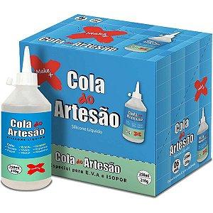 Cola Para Artesanato Artesao Silicone Liquido 250Ml Make+