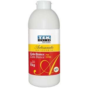 Cola Para Artesanato Branca Extra 1Kg Tekbond