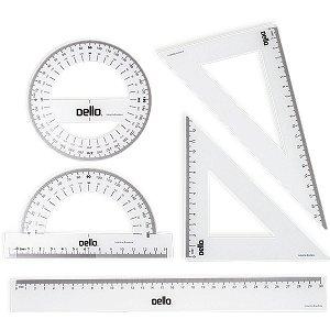 Conjunto Para Desenho 1 Grau 1 E 2 Grau C/05 Pecas Flexivel Dello