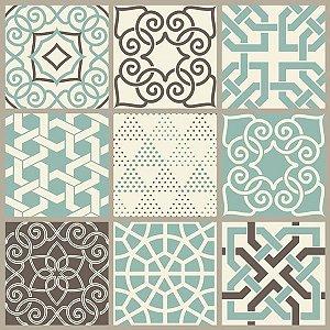 Contact Decorado 45Cmx10M Azulejo Dubai Plastcover