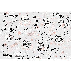 Contact Decorado 45Cmx10M Cats Plastcover