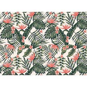 Contact Decorado 45Cmx10M Folhagem Tropical Plastcover