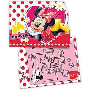 Convite De Aniversário Minnie Red R.95 C/08 Un Regina Festas
