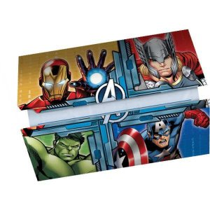 Convite De Aniversário The Avengers Animated R70 8Un Regina Festas