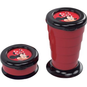 Copo Decorado Minnie Copo Retratil 330Ml. Plasutil