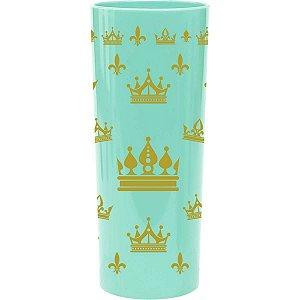 Copo Decorado Realeza Azul Tifany 350Ml. Bezavel