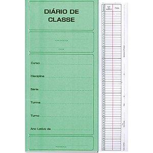 Diario De Classe Mensal 14Fls Verde São Domingos