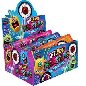 Doce Diploko Neon Monsters Olho Danilla Foods Brasil