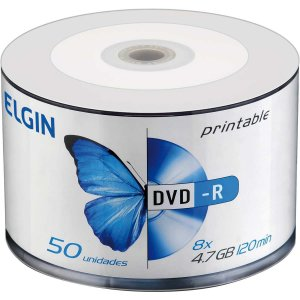 Dvd Gravavel Printable Dvd-R 4.7Gb/120Min/16X Elgin