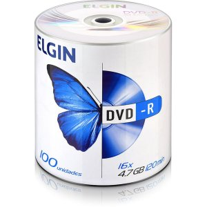 Dvd Gravavel Dvd-R 4,7Gb/120Min/16X Elgin