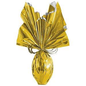 Embalagem P/ovo De Pascoa 69X89Cm. Dourado Metalizado Cromus