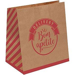 Embalagem Para Alimentos Saco Delivery Dec.m 28,5X24X12 Cromus