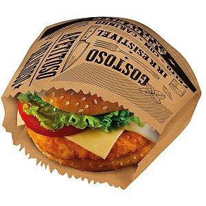 Embalagem Para Alimentos Saquinho P/lanche Frases Kraft Festcolor