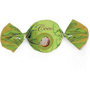 Embalagem Para Trufa/cone 14,5X15,5Cm. Coco Sabores Cromus