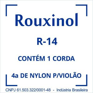 Encordoamento Nylon Encapada Prata(R58) C/bo Rouxinol