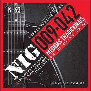 Encordoamento P/guitarra 009/42 Tradicional Rouxinol