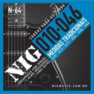 Encordoamento P/guitarra 010/046 Tradicional Rouxinol