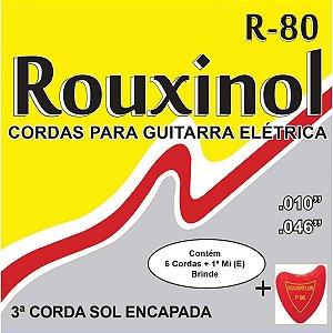 Encordoamento P/guitarra Eletrica Leve 10/46 Rouxinol