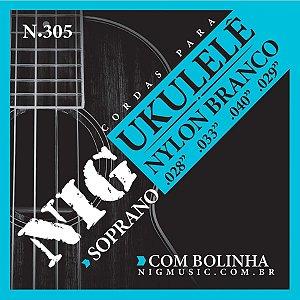 Encordoamento P/ukulele Nylon Br.028/033/040 Rouxinol