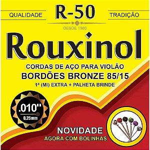 Encordoamento P/violao Aço Bronze 85/15 C/bo Rouxinol