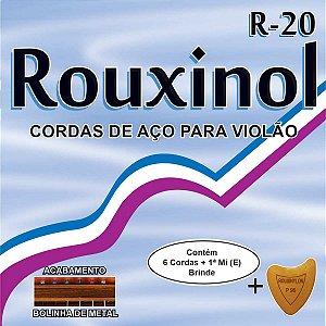 Encordoamento P/violao Aço Inox C/bolinha Rouxinol