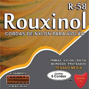 Encordoamento P/violao Nylon Cr/prat.c/bolin Rouxinol