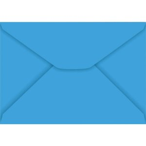 Envelope Carta Colorido 114X162Mm Azul Royal 85G Foroni
