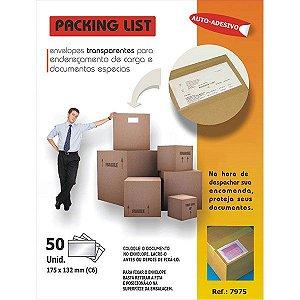 Envelope Enderecamento Carga Plástico Transp.175X132Mm Usa Folien