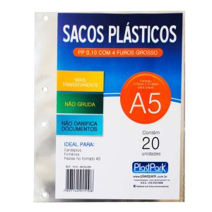 Envelope Plástico A5 4Furos Pp Grosso Romitec