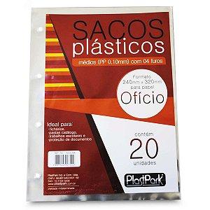 Envelope Plástico Ofício 4Furos Med.pp.tr.0,10Mm Romitec