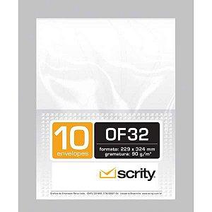 Envelope Saco Branco 229X324 Offset 90G. Blc/10 Scrity