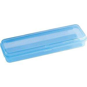 Estojo Plástico Plus Azul Waleu