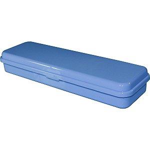 Estojo Plástico Plus Azul Pastel Waleu