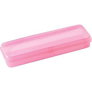 Estojo Plástico Plus Rosa Waleu