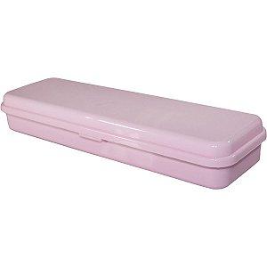 Estojo Plástico Plus Rosa Pastel Waleu