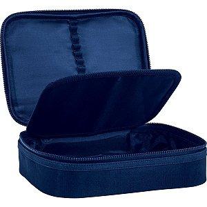 Estojo Tecido Academie Box Gd Azul Tilibra