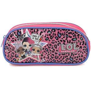 Estojo Tecido Lol Pq 1Ziper Pink Luxcel