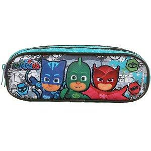 Estojo Tecido Pj Masks Plus 2Ziperes Dmw
