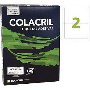 Etiqueta A4 143,5X199,9Mm 100 Folhas Colacril